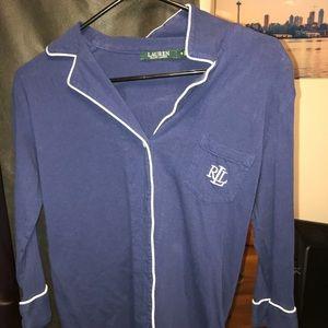 Ralph Lauren button up sleeping shirt